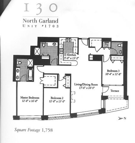 130 n garland ct apt 1703 chicago il 60602 for 130 n garland floor plan