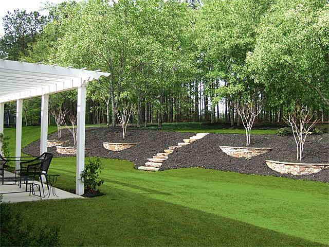 1000 images about slopes steps walls on pinterest for How much to landscape a backyard