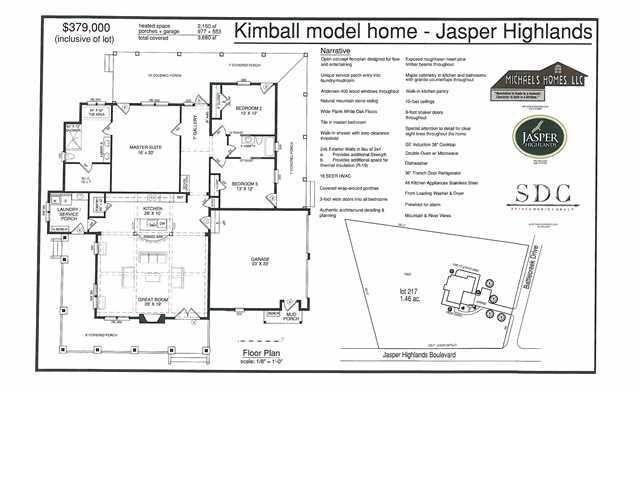 1845 Jasper Highlands Blvd Jasper TN 37347 realtor – Kimball Hill Homes Floor Plans