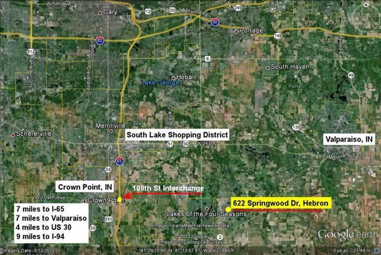 Hebron Indiana Map.622 Springwood Dr Hebron In 46341 Realtor Com