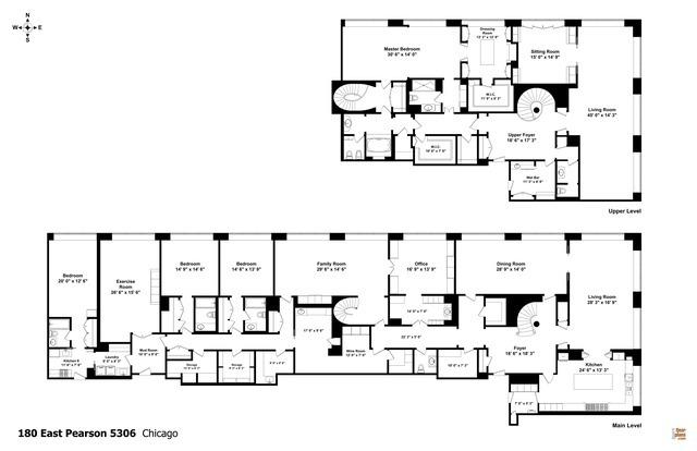 Floor plan of Oprah Winfrey's condo