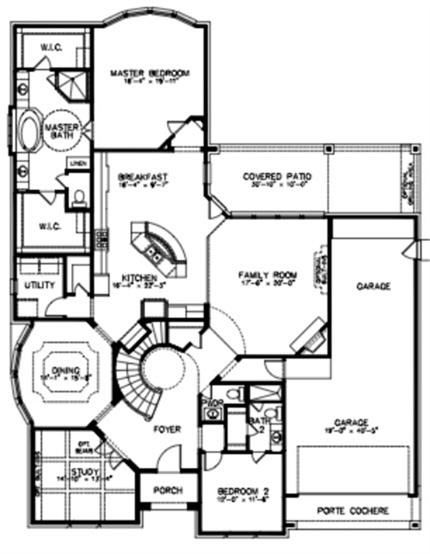 6103 mustang trail ln fulshear tx 77441 for Curved staircase floor plans