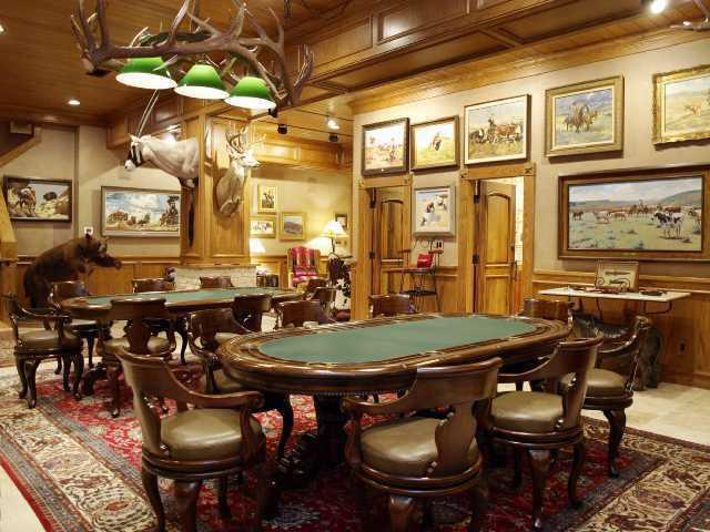 playing in the left of this man cave pool room