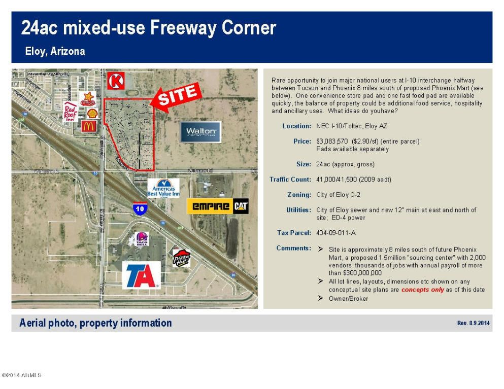 Map Of Eloy Arizona.Ne Cor Toltec Lot 11 A Eloy Az 85131 Realtor Com