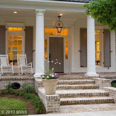 1000 ideas about front porch stairs on pinterest porch - Front porch designs for brick homes ...